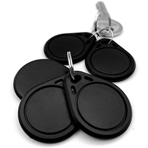 NFC Tag (5 Stück) Schlüssel-Anhänger - NTAG216 - 888 BYTE Speicherplatz - read & write - frei programmierbar - kompatibel mit allen NFC-Lesegeräten & Android Apps - Funk RFID-Schlüssel - NFC Tags
