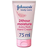 JOHNSON'S Hand Cream, 24 HOUR Moisture, Extra Rich, 75ml