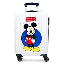 Disney Enjoy the Day Valise Trolley Cabine Rigide Mickey, 55 cm, Blanc
