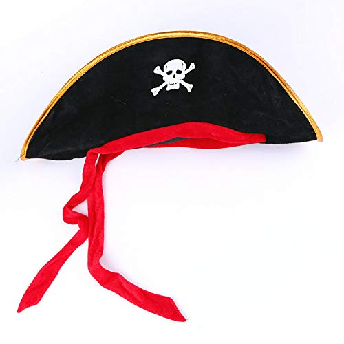 Hilai 1pcs Halloween-Piraten-Kapitän Hut Masquerade anzeigen Props Role Playing Props Partyangebot