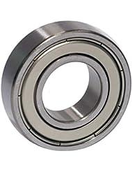 EZO - Roulement à billes à gorge profonde rangée simple en acier inoxydable 6003 ZZ (17x35x10)