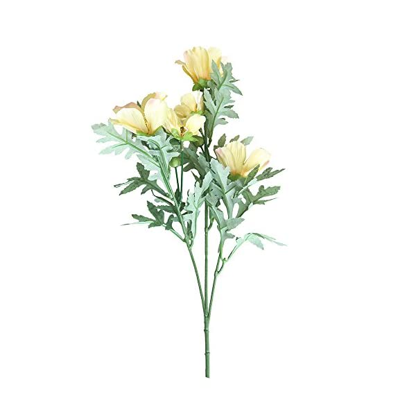 ForgetMe – Ramo de Flores de crisantemo Artificiales, de Seda Artificial, para decoración del hogar, Boda, Boda, hogar, jardín, Fiesta, Boda