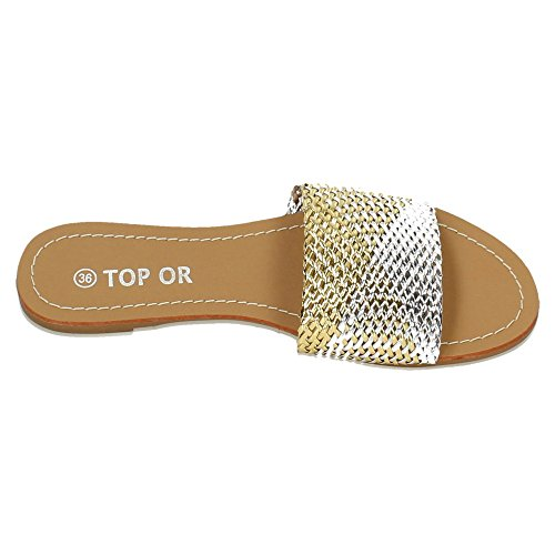 ZAPATOP , sandales femme Argent