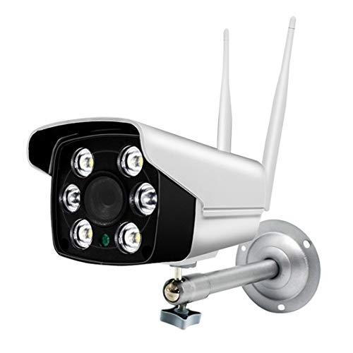 ERSD Drahtlose Überwachungskamera HD Smart WiFi Farbe Im Freien Wasserdichte Kamera Baby Monitor Videoüberwachungskameras Überwachungskamera System Überwachungskameras (Farbe : White)