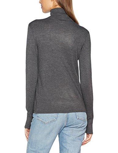 ONLY Damen Onldina L/S Rollneck Pullover Knt Grau (Dark Grey Melange)
