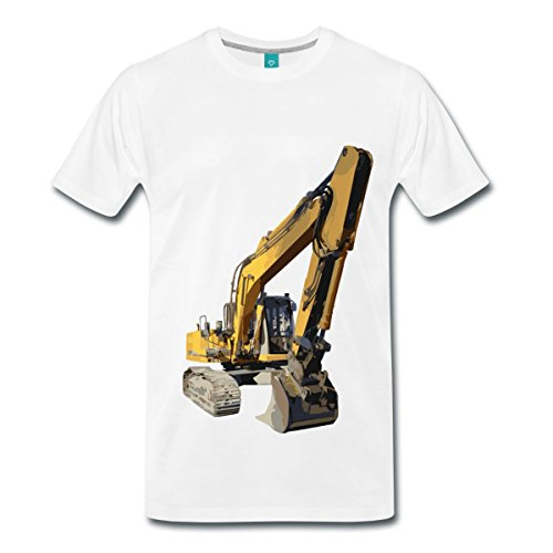 bagger-manner-premium-t-shirt-von-spreadshirtr-m-weiss