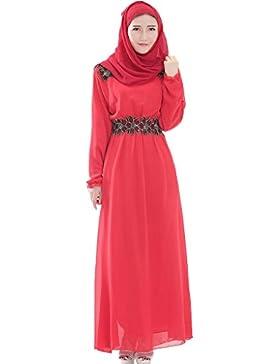 GladThink Donne musulmano Maniche lunghe Chiffon Kaftan islamico Dress Maxi