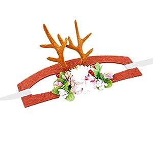 Costume de Noël pour Animaux de Compagnie Chat Chien en Bois de Coiffe Coiffe pour Animaux de Compagnie Chien Renne Cornes chapellerie pour Chiot Chien Chaton Bandeau de noël Stunning
