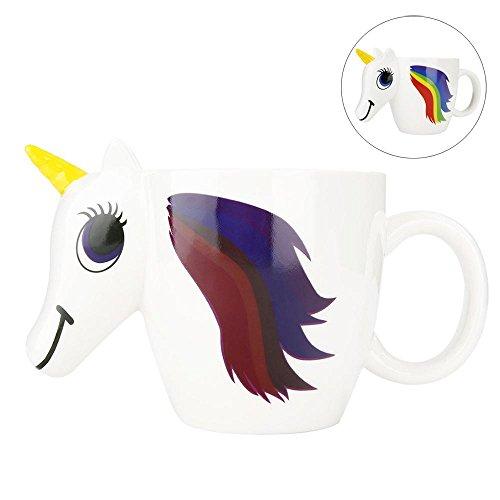Aolvo Tazza Di Unicorno, Tazze Da Caffè In Ceramica Personalizzate Che Cambiano Colore Tazza Di Caffè Magica Originale, Sensibile Al Calore 3D