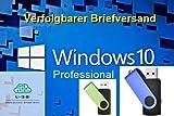 Unleashed-Shop-Bolt Microsoft Windows 10 Pro Professional USB Stick bootfähig 32 Bit / 64 Bit - Vollversion - Lizenz Key - Lizenzschlüssel