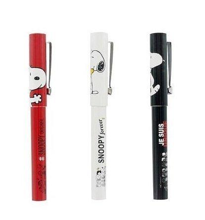 Snoopy-Peanuts-Penna a sfera, colore: nero/rosso/bianco, colori assortiti, venduto singolarmente