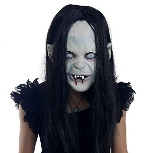 Geist Maske Kostüm Blauen - Idollcg Party Maske Halloween Teufelsmaske Kostüm Gruselmaske Horror Maske Geister Mitesser Kostüm Party Dekoration, Gummi, blau, Einheitsgröße
