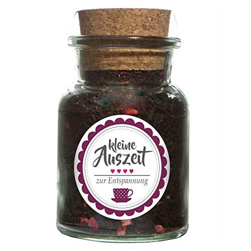 """""""Kleine Auszeit"""" Tee – Schwarztee mit Früchte Aroma – Geschenkidee Entspannung Wellness"""