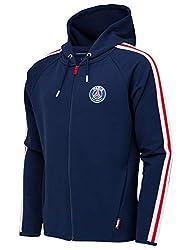 PARIS SAINT GERMAIN Jacke Sweatshirt mit Kapuze und Reißverschluss PSG Offizielle Kollektion - Kindergröße 10 Jahre
