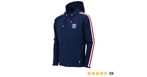 Jungen Offiziell PSG Paris Heiliger Germain Fleece mit Kapuze Rei/ßverschluss Schlafanzug Einteiler Gr/ö/ßen von 3 bis 12 Jahre