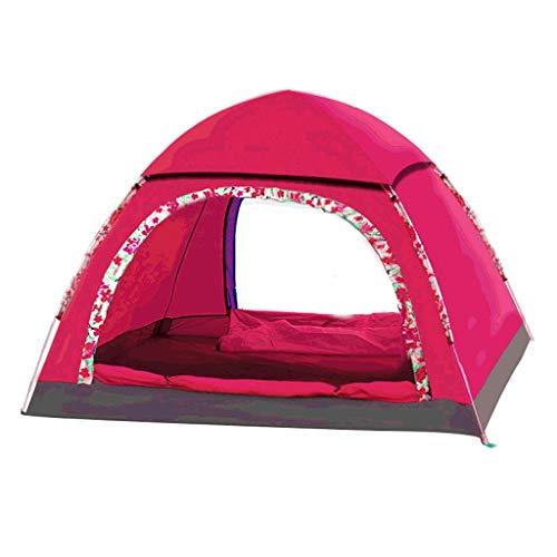 Zelt LCSHAN 3-4 Personen Automatisches Outdoor-Familien-Regenschutz Strand Wild Camping (Farbe : Pink, größe : 3~4 People)