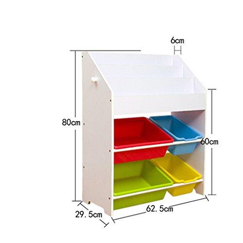 ZHDC® Toy Storage Rack Kinder Bücherregal Kindergarten Spielzeug Rack Storage Rack Finishing Rahmen Spielzeug Aufbewahrungsbox Shelf Starke Tragfähigkeit ( Farbe : #1 , größe : 62.5*29.5*80cm ) -