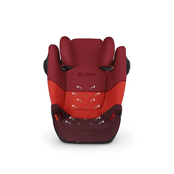 CYBEX Silver Solution M-Fix SL Child's Car Seat, for Cars with and Without ISOFIX, Group 2/3 (15-36 kg), from Approx. 3 to Approx. 12 Years, Blue Moon  Sturdy and high-quality child car seat for long-term use - For children aged approx. 3 to approx. 12 years (15-36 kg), Suitable for cars with and without ISOFIX Maximum safety - Built-in side impact protection (L.S.P. System), Energy-absorbing shell 12-way adjustable, comfortable headrest, Adjustable backrest, Ventilation system 3