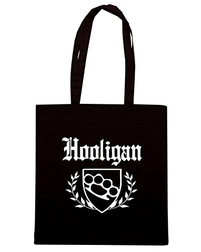 T-Shirtshock - Borsa Shopping OLDENG00524 hooligan knuckle crest Nero