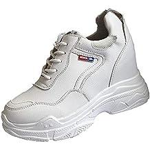 Zapatillas Deportivas Plataforma Cuña para Mujer,Moda Mujeres Aumentar Zapatos Casuales Desgaste Zapatos de Estudiante