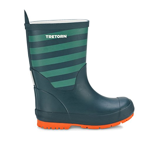 Tretorn Gummistiefel für Kinder Gränna - Wasserdichte Regenstiefel, Kinderstiefel Aus Naturkautschuk ohne PVC - Dunkel Grün Größe - Schuhe Tretorn