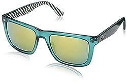 Lacoste Mirrored Wayfarer Unisex Sunglasses - (Lacoste 750 315 54 S|54|Green Color)