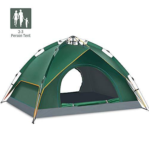Tenda da campeggio tenda automatica pop-up per 2-3 persone tenda a cupola doppio strato impermeabile anti-uv tenda da viaggio ultraleggera tenda da viaggio con borsa per escursionismo da spiaggia