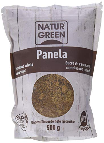 NaturGreen Panela, Jugo de caña de azúcar cristalizado- Pack de 6 unidades de 500 gr