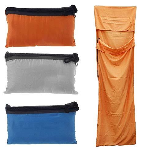 KIOio Sacco a Pelo per Esterni Ultraleggero con Fodera in Poliestere Sacco a Pelo da Campeggio per Viaggi in Campeggio (Colore : Orange)