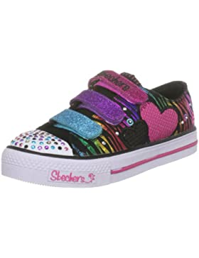 Skechers Shuffles Triple Time 10203L, Zapatillas de Lona, Niñas