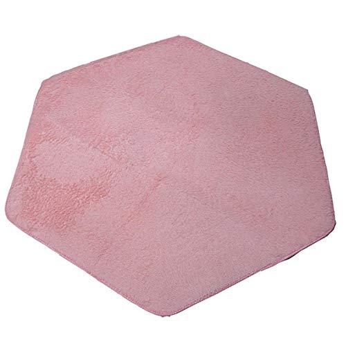 Sechseckiger Teppich Pad, Coral Soft Matte für Kinder Spielhaus Spielzelt Kissen - Heimteppich Bodenmatte - Kinder Spielhaus Pad - Baby Spieldecke Pad 120x140cm rose -
