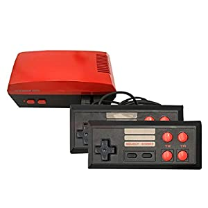 FYYTRL Classic Mini Spielkonsole, Retro Heim-TV-Spielkonsole, Built-In 256 TV Videospielen Mit Dual-Controller,Rot
