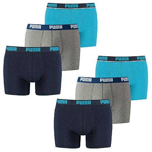 Puma Herren Basic Boxershort,  Blue,  Gr. XL, (6er Pack) -