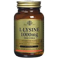 Solgar 1000 mg L-Lysine Tablets - 50 Tablets