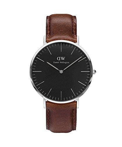 Daniel Wellington–Reloj Hombre 40mm Daniel Wellington Classic Black Bristol Silver dw00100131