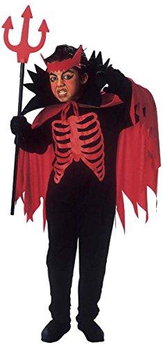 Halloween roter Teufel Kostüm für Jungen 110/122 (5-7 Jahre) (Rote Teufel Kostüm Halloween)