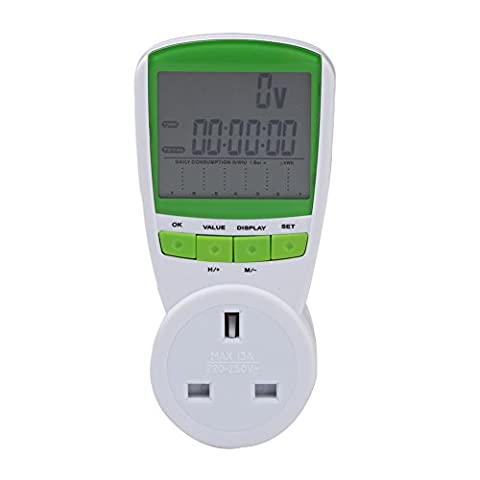 230V Energy Meter Plug Watt Voltage Volt Meter Hertz Power