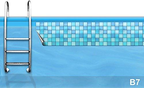 Bordüre Pool * Verzierung Poolrand * Borte Poolbecken * Randstreifen Swimmingpool *B7