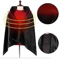 Aoweika Heated Shawl, USB Charging Heated Throw Blanket Shawl, Machine Washable Warm Winter Shawl, Heating Shoulder Neck Abdomen for Autumn Winter