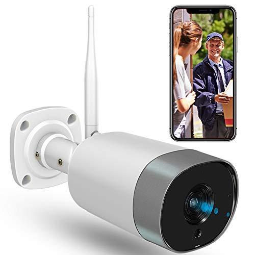 Mibao WLAN IP Kamera Outdoor,Überwachungskamera 1080P HD WiFi Kamera für Aussen, IP66 wasserdichte mit Nachtsicht,Zwei Wege Audio,Fernzugriff und Bewegungserkennung,Weiß