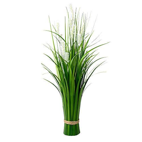 Formano Deko-Schilfgras Grasbündel aus Kunstgras, 62 cm, stehend, Grün Creme, mit Schilfblüten, 1 Stück gebündelt