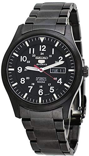 Seiko Herren Analog Automatik Uhr mit Edelstahl Armband SNZG17K1