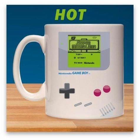 Nintendo Game Boy Thermoeffekt Tasse Super Mario 300ml Keramik weiß - Game M Boy Mit
