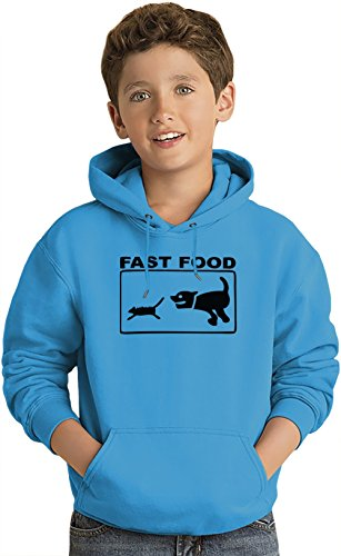 Fast Food Cat And Mouse Funny Lightweight Hoodie For Kids | 80% Cotton-20%Polyester| DTG Printing| Unique & Custom Jumpers, Sweatshirts, Sweaters & Kids Clothing By Wicked Wicked