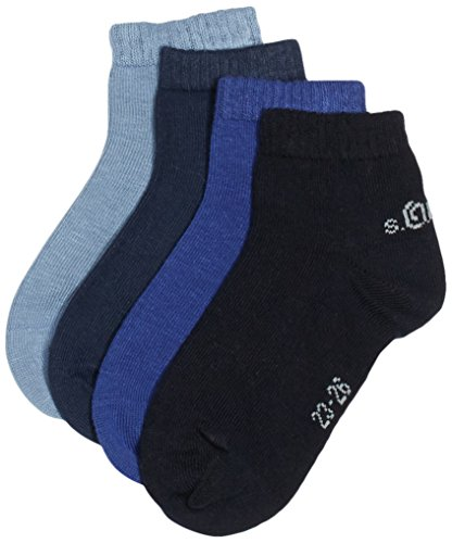 s.Oliver Socks Jungen Sneakersocken S21008, Gr. 40 (Herstellergröße: 39/42), Blau (blue 30)