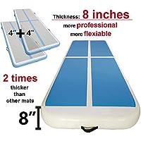 Garybank Doble Altura Air Track Airtrack Colchoneta Inflable de Gimnasia Air Floor Cojín de Taekwondo Gimnasia
