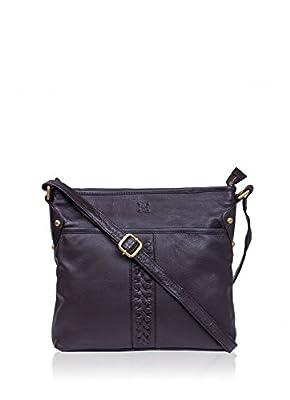 Leather Plait Detail Leather Shoulder Bag