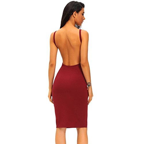 PU&PU Femmes Casual / Sorties sangles Halter manches sans manches Robe, col rond Open Back Grey