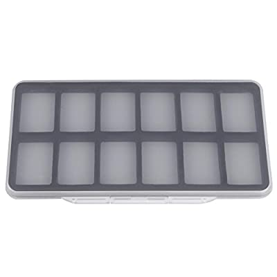 Foru-1185x103x13mm Fly Fishing Box 12 Magnetic Compartment Clear Slim Hook Box from Foru-1