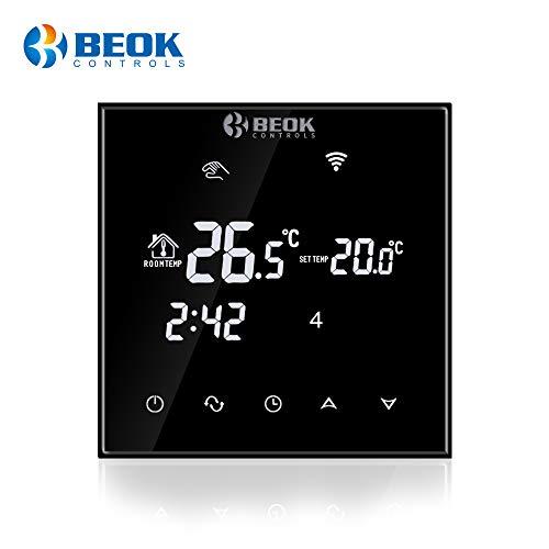Beok TGT70WiFi Programmazione Termostato Di Riscaldamento Elettrico AC230V 16A Termostato Controllato Da Smart Phone Con Sensore Esterno